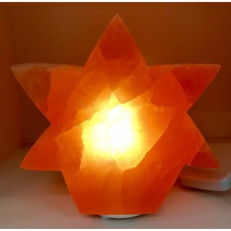 Lampe Sélénite Étoile Rouge