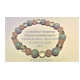 Bracelet Calcédoine Bleue Quartz Rose  et Cristal de roche
