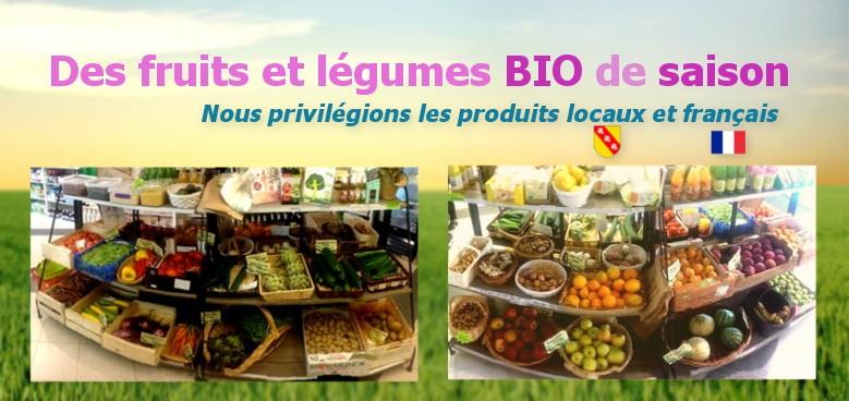 Fruits et légumes bio origine France
